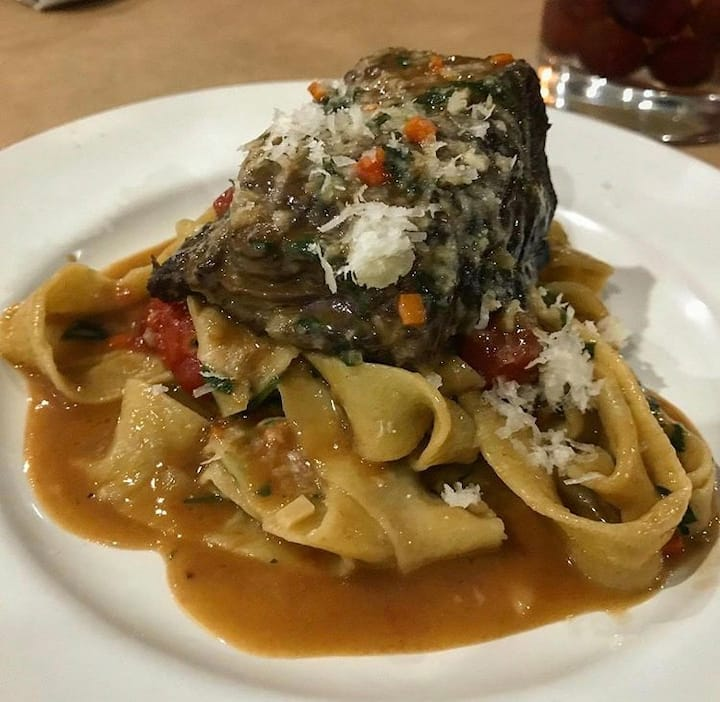 Braised short rib with fresh tagliatelle