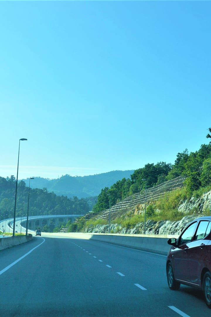 The scenic Rawang Bypass enroute