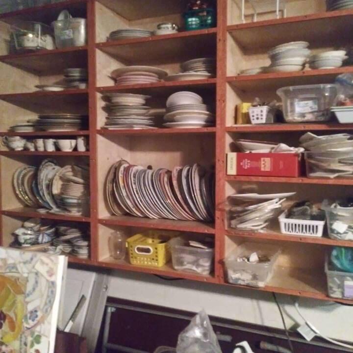 Broken china in my studio