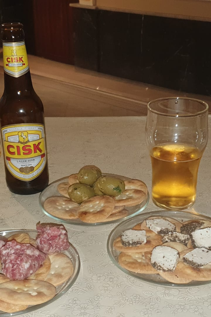 Local Beer and Nibbles at the Club Bar.