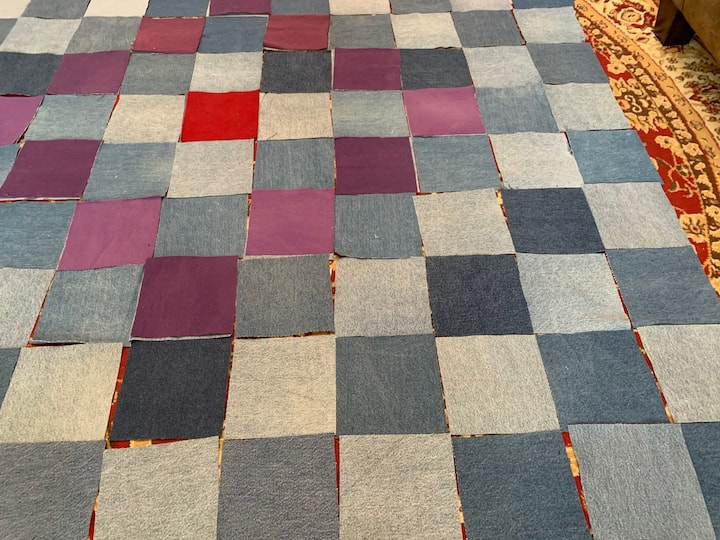 Squares all laid in pattern