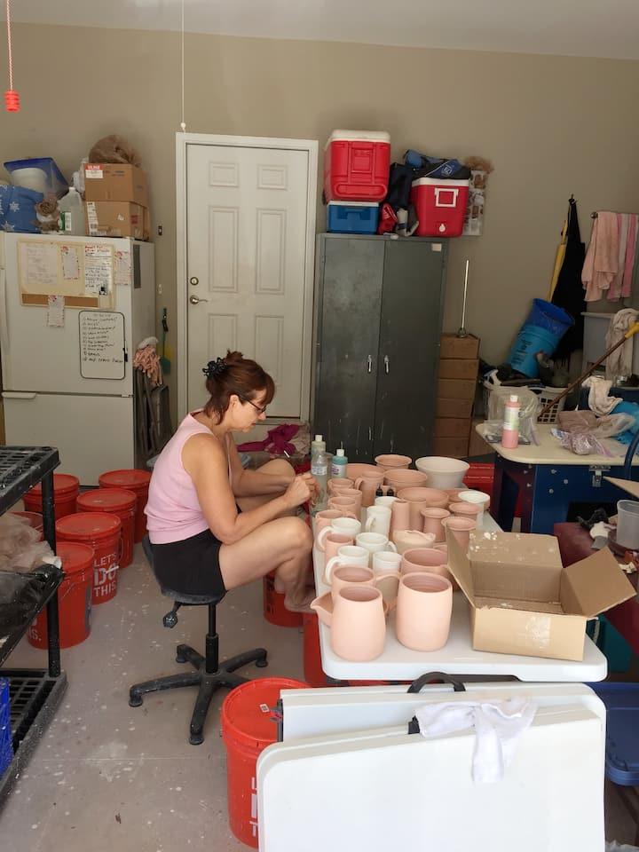 Lisa glaze prepping