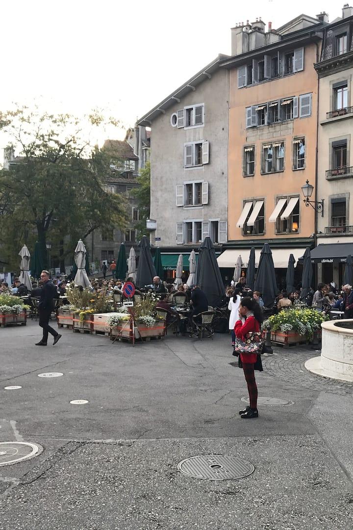 We'll visit Old Town Geneva