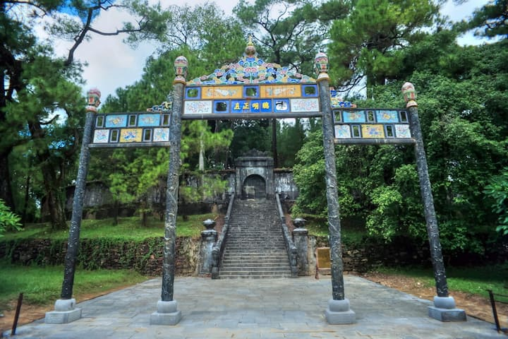 The Burial area in Minh Mang Tomb
