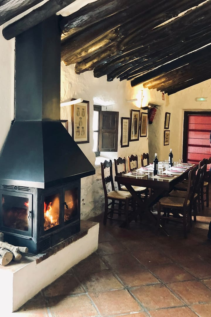 Fireplace for lunch