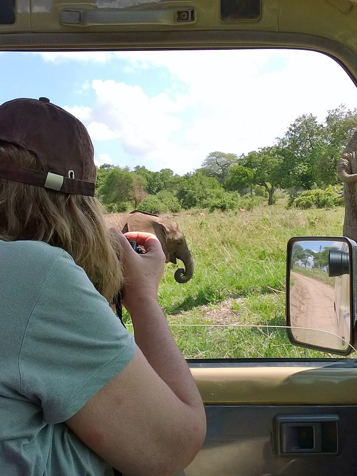 Our guest enjoying a close elephant view