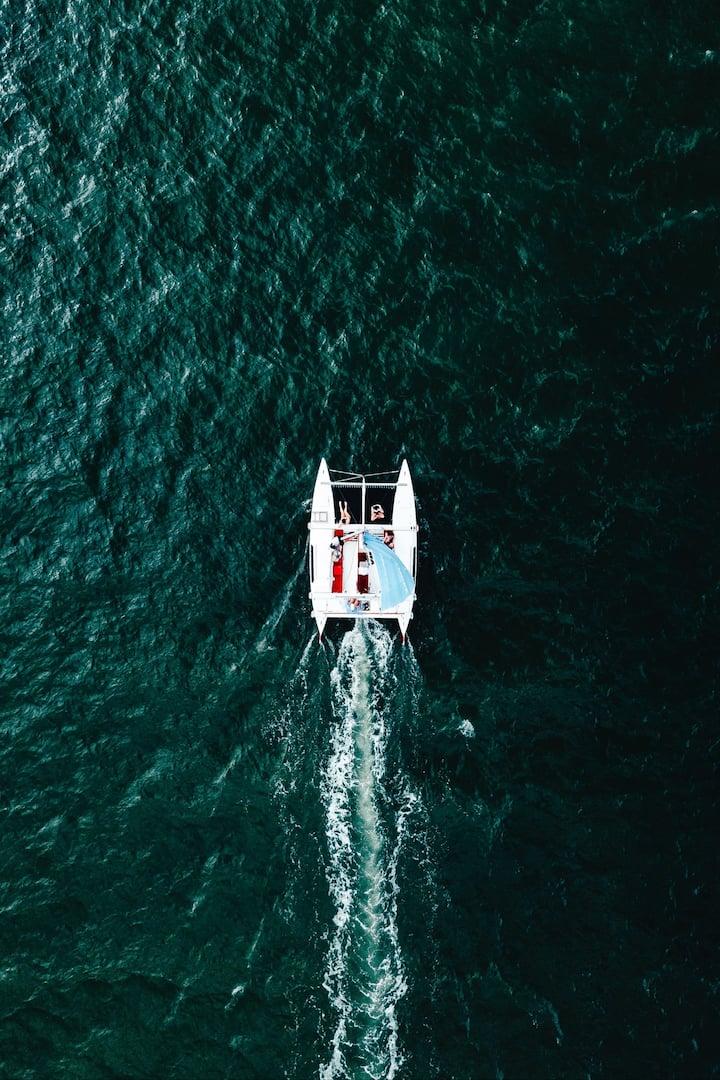 A catamaran can go fast