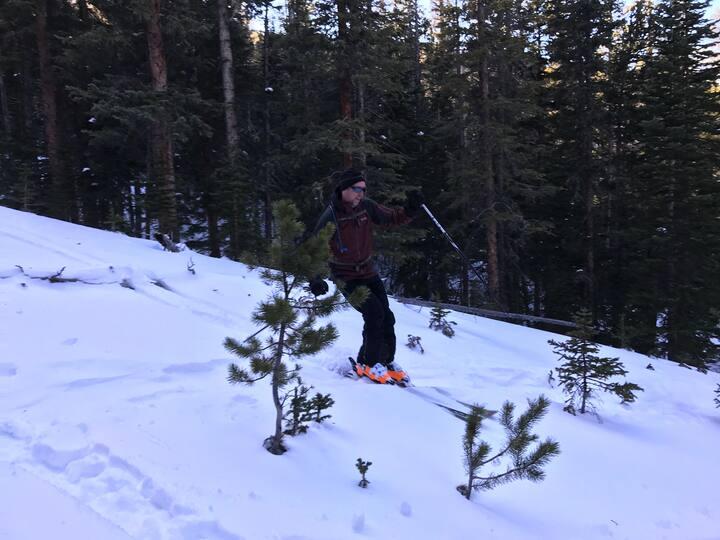 Bring AT skis if you want
