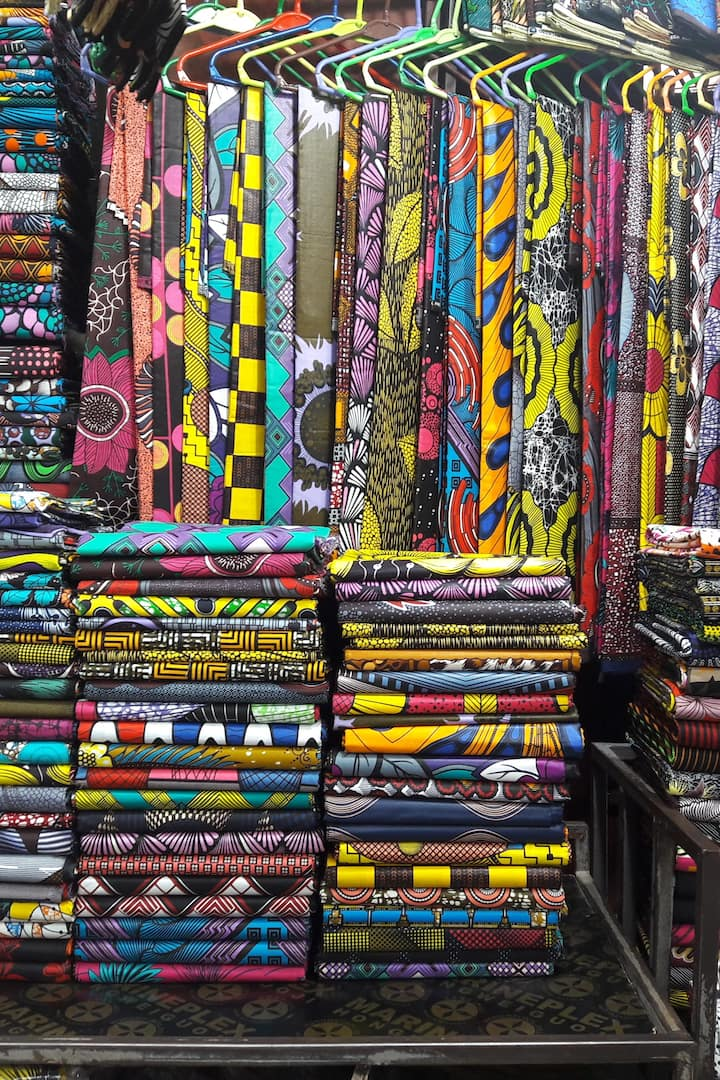 The African Kitenge wraps.