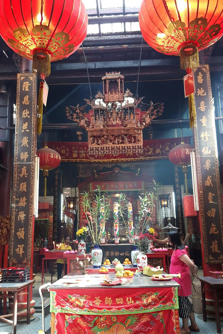 Altar of the oldest temple in KL