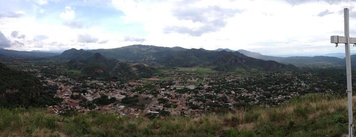 Valle de Malinalco desde la cima