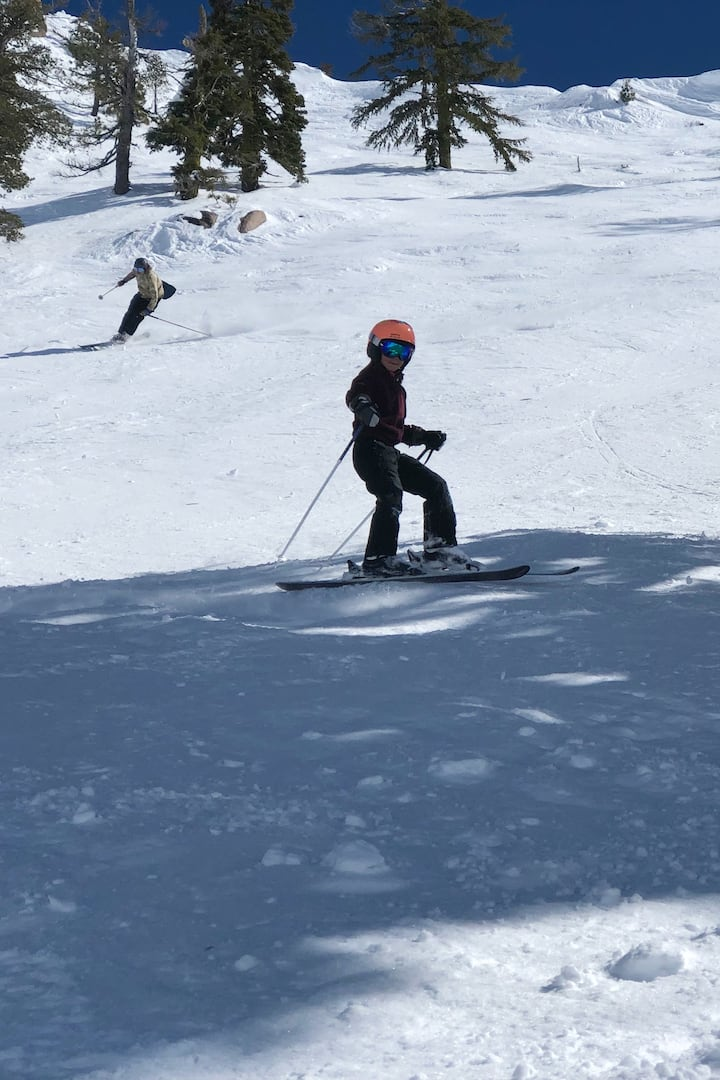 Pictures of the kids skiing rad lines