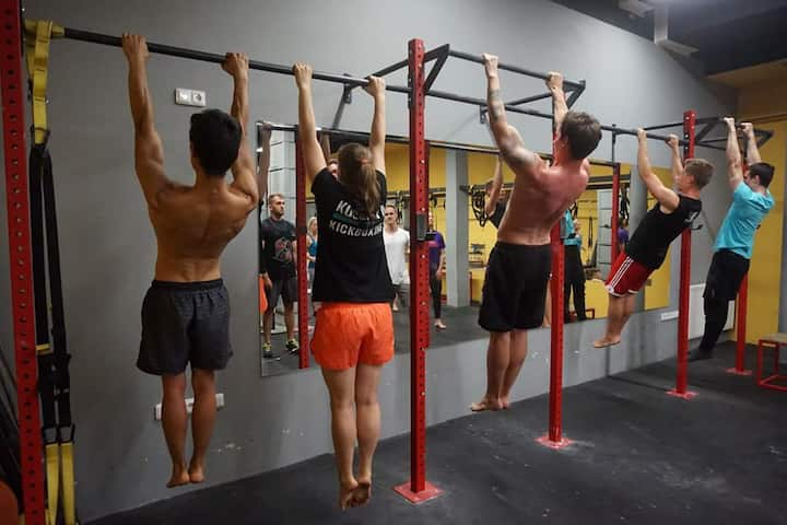 Hanging is first step for pull up.