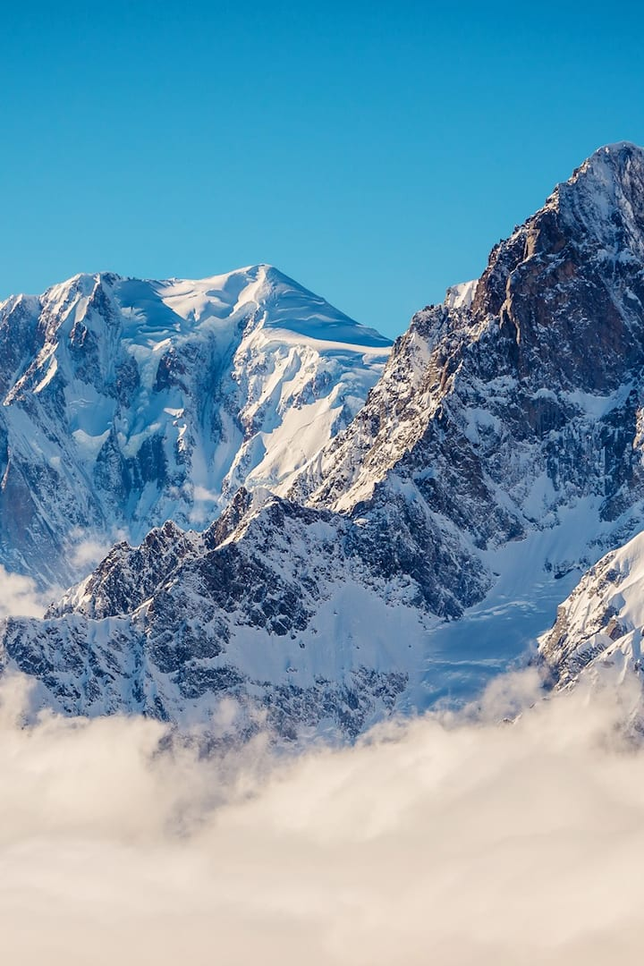 Mont Blanc above the clouds!