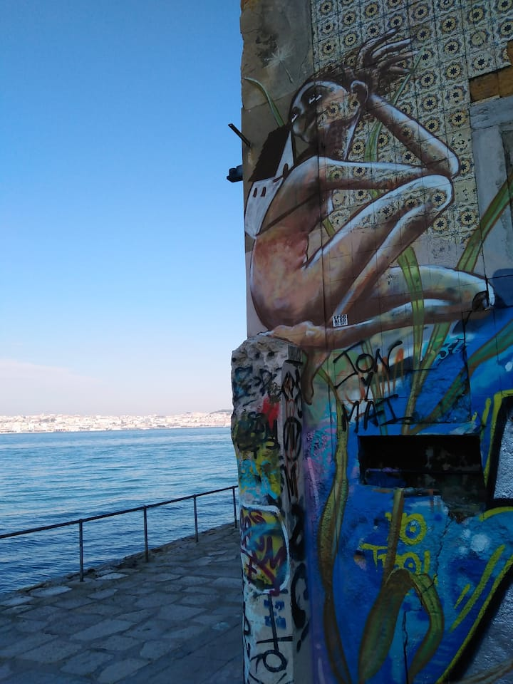 Street art with view