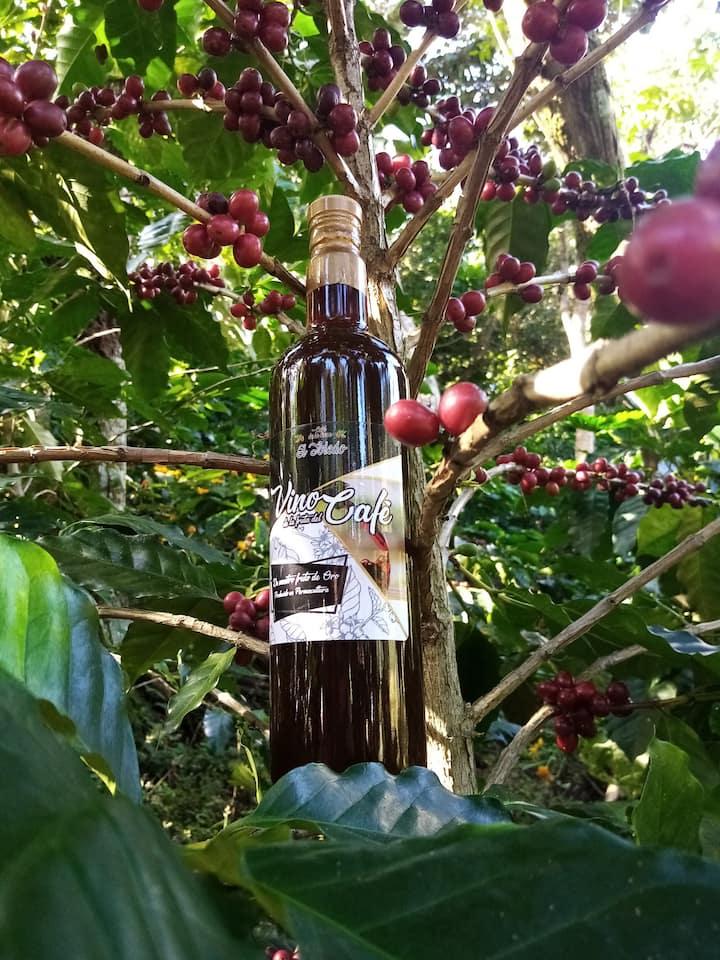Coffee fruit wine. From farm to bottle