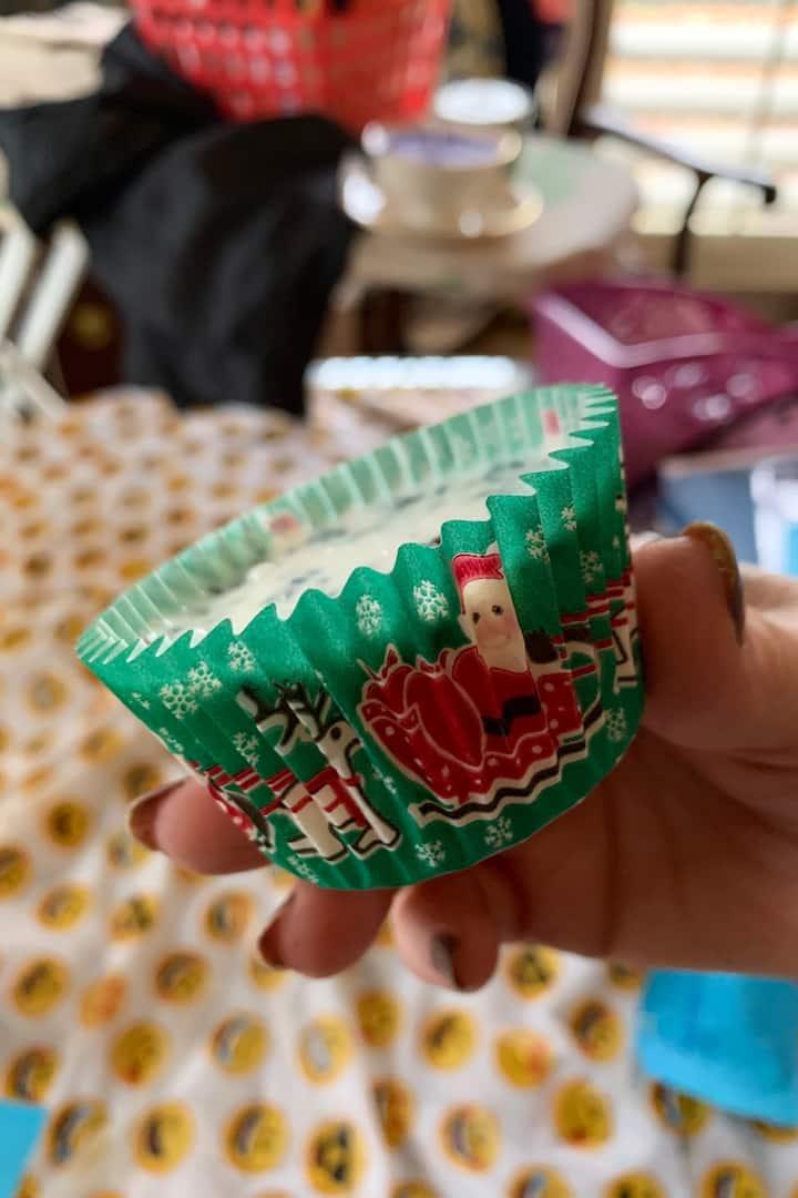 Christmas soap cupcakes