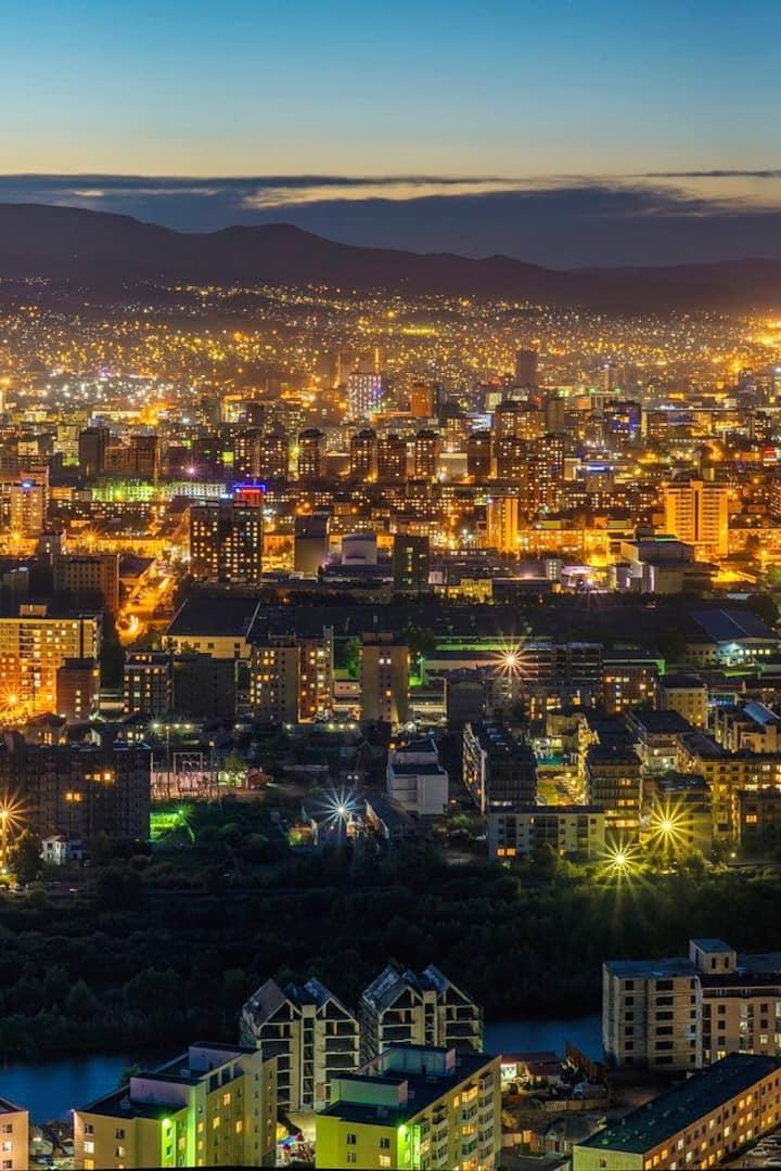 Night view of Ulaanbaatar
