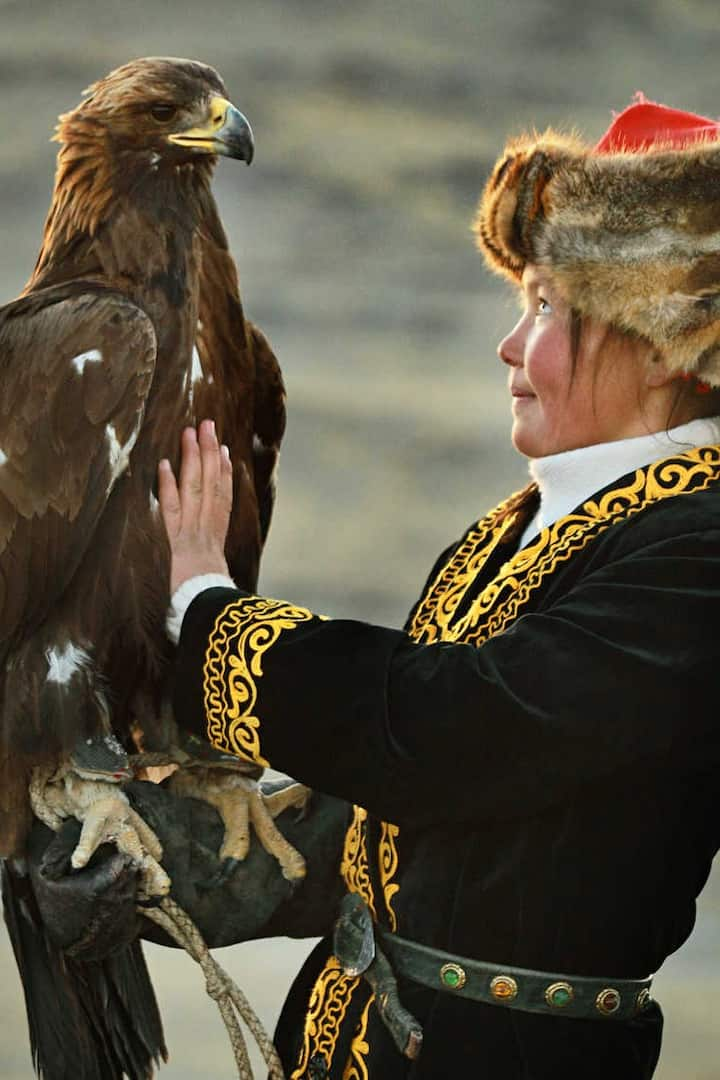 The girl with Hunter Eagle