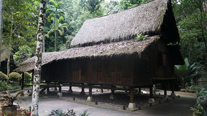 A replica of Malay traditional house