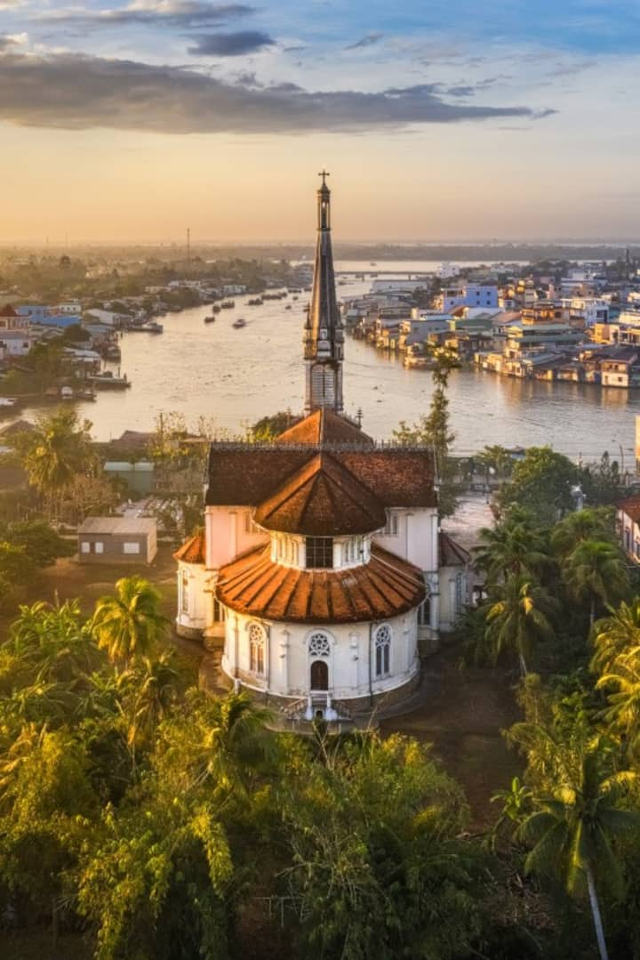 Cai Be Curch in the Mekong Delta