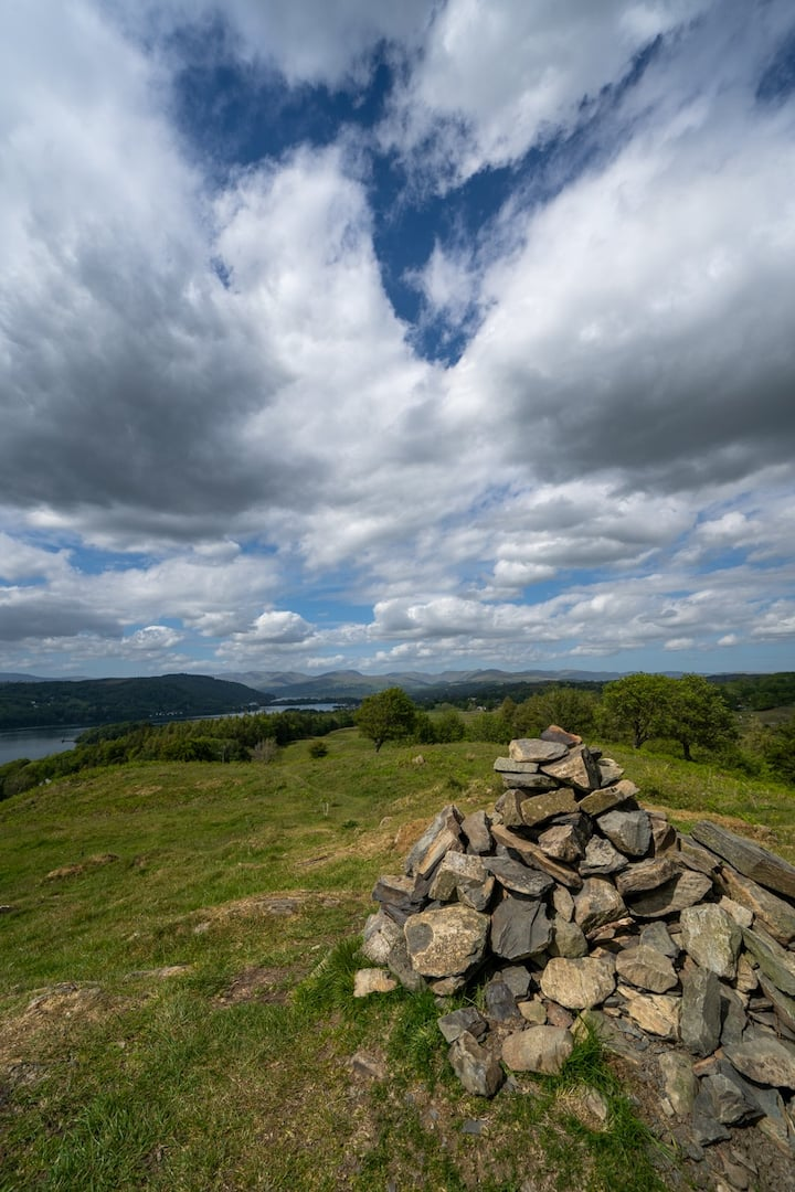 Panoramic view of Lake District