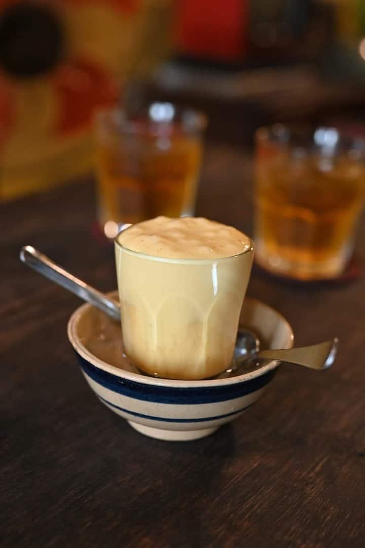 Ca Phe Trung ( egg coffee)