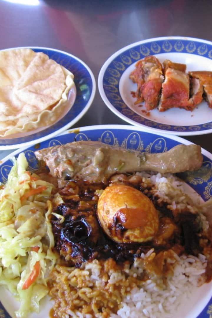 the famous Nasi Kandar dish.