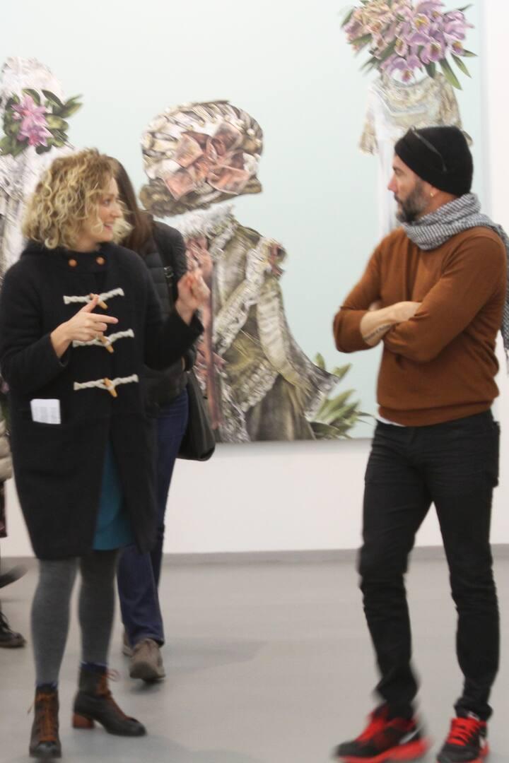 con il gallerista opere L. Rodriguez