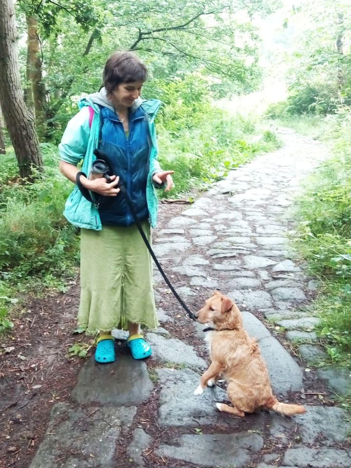 Pepper dog always alert to wildlife