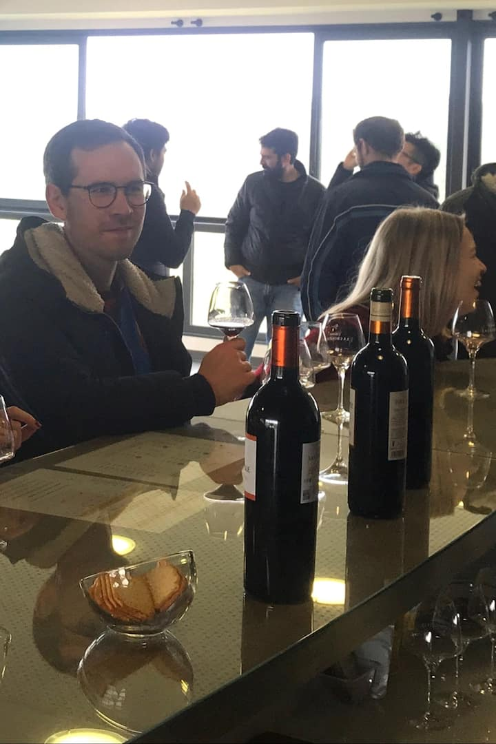 Tasting the wines a the estate
