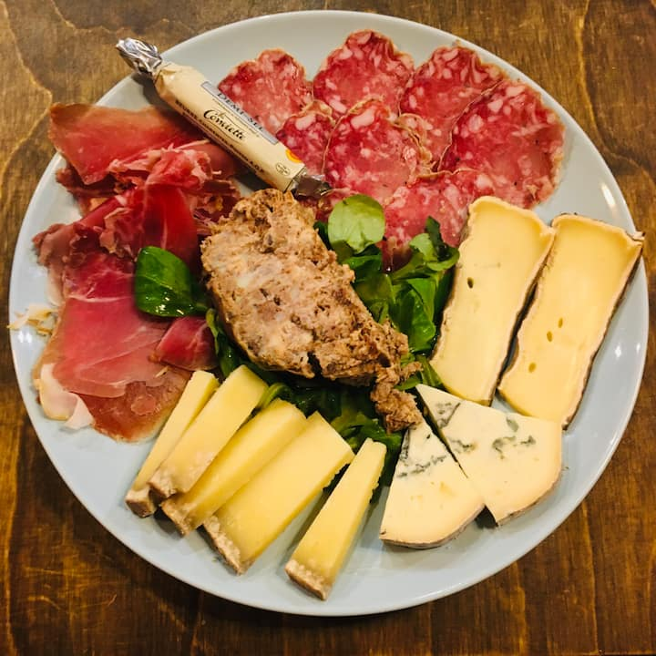 Some cheese and meat to share