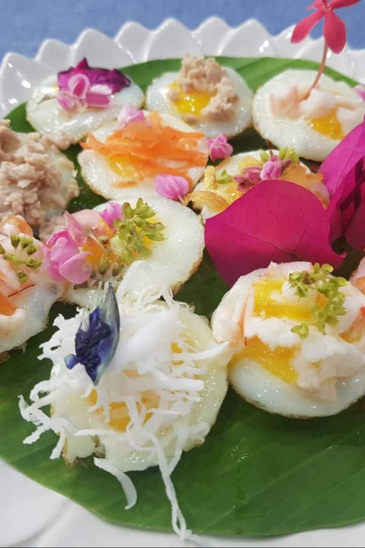 Thai dessert 制作泰国甜点的艺术