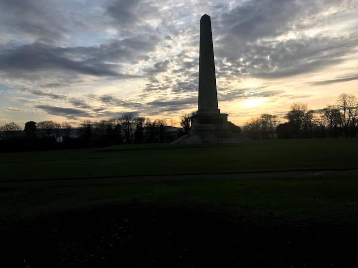 The Wellington Monument, Sunset