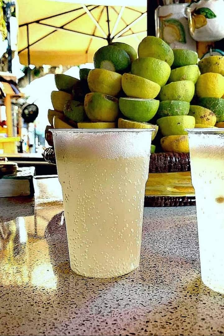 Freshly squeezed lemon, Salt & Soda