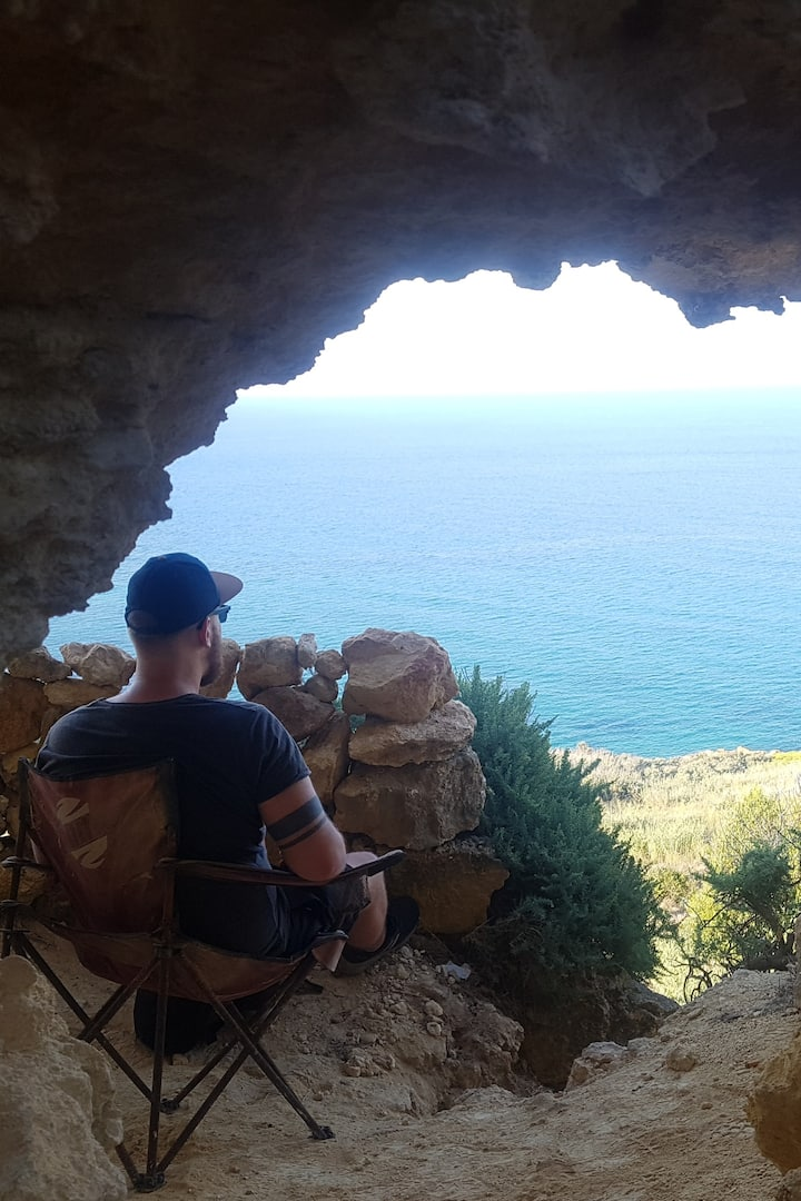 explore gozo cave on the hike