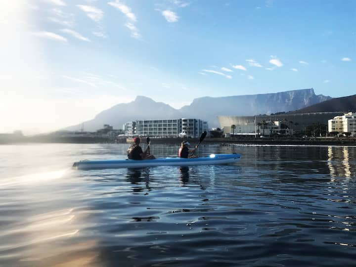 Views of Table Mountain and waterfront