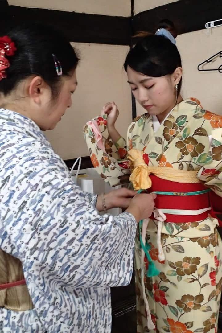 kimono dressing
