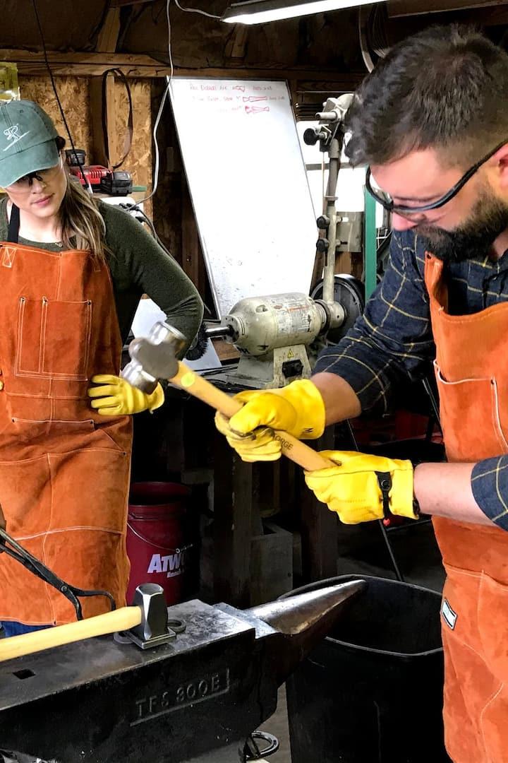 using a flattening hammer