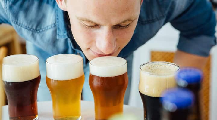 We serve you 4 beers to try!