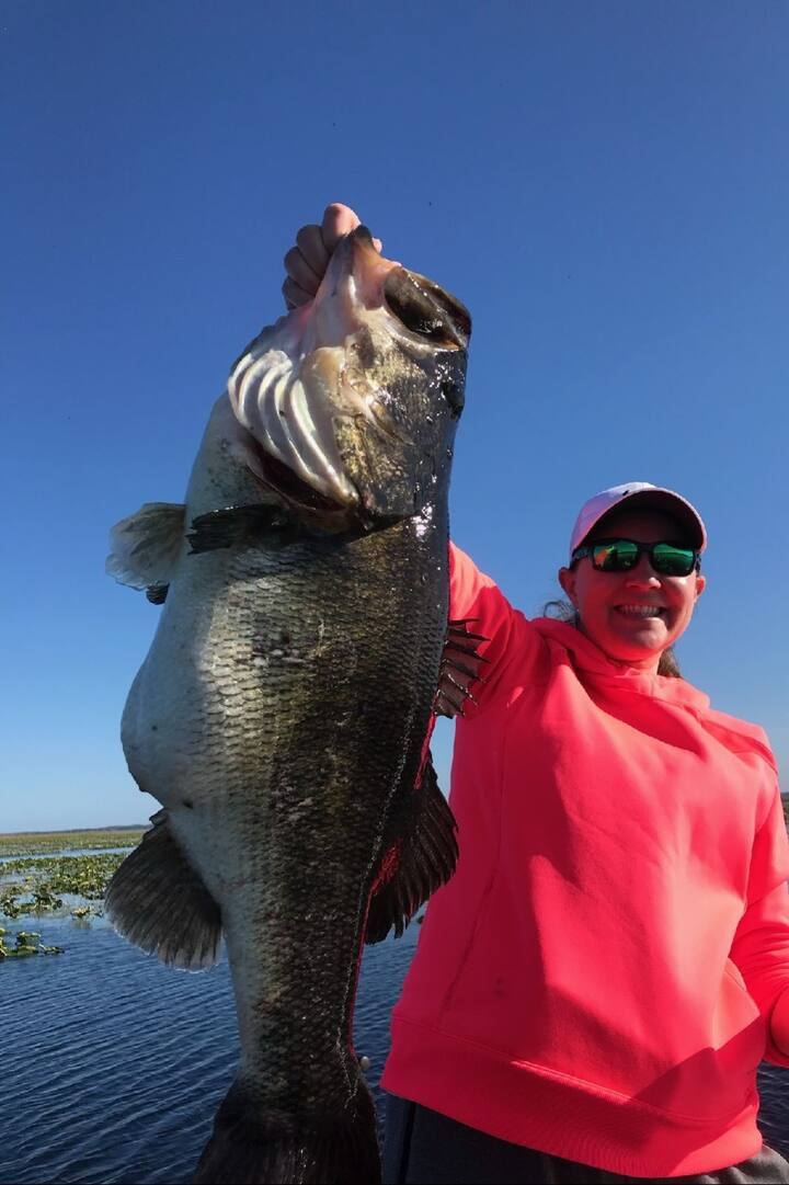 Biggest bass she ever caught almost 15lb