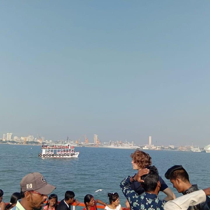 Ferry ride to elephanta caves