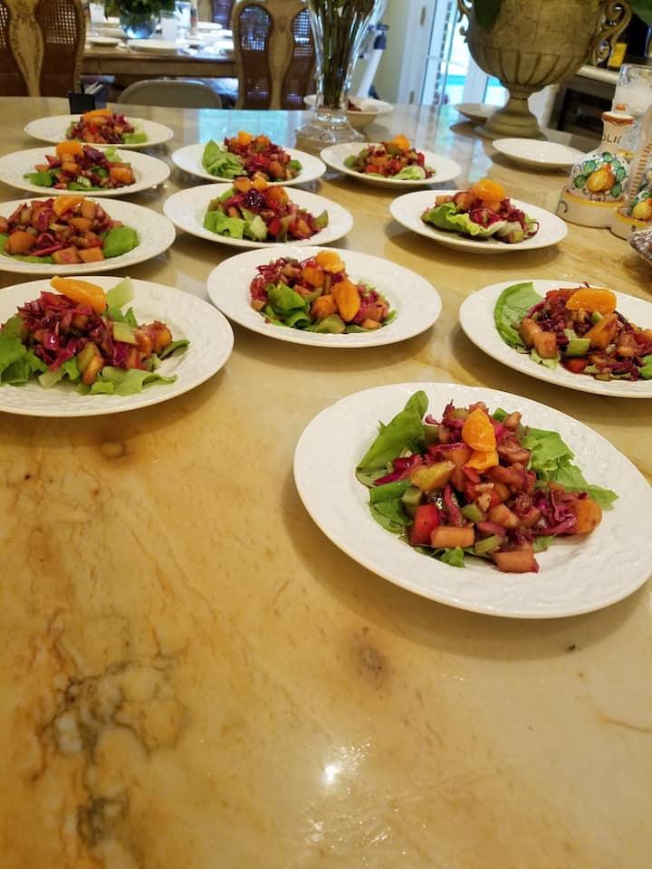 Fruity butter lettuce salad