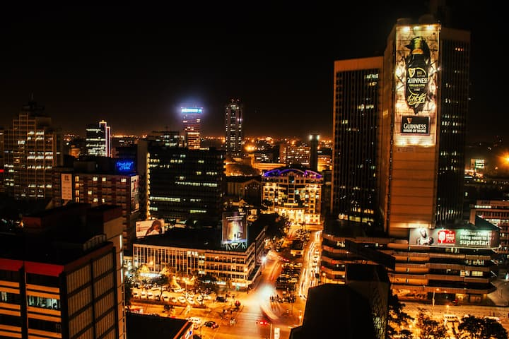 Nairobi at night is a sight to behold!