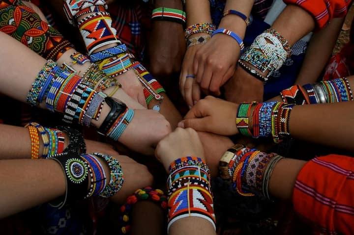 Fashion finds Its Way in Masai market.