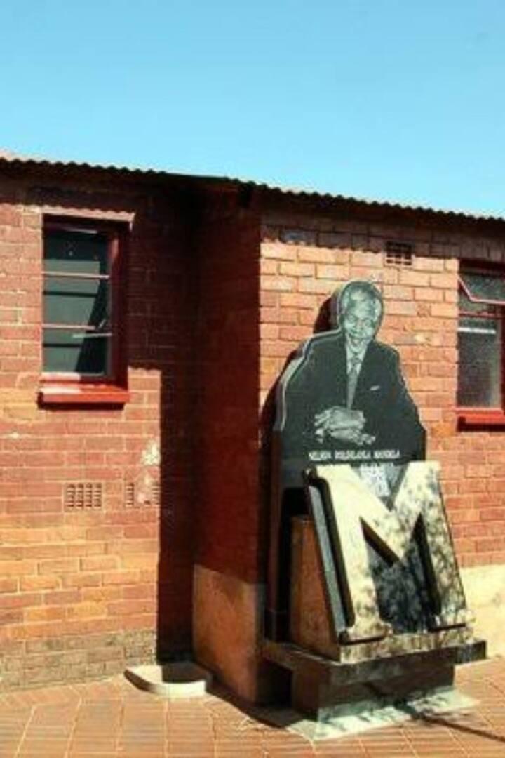 Mandela  statue at Mandela  house
