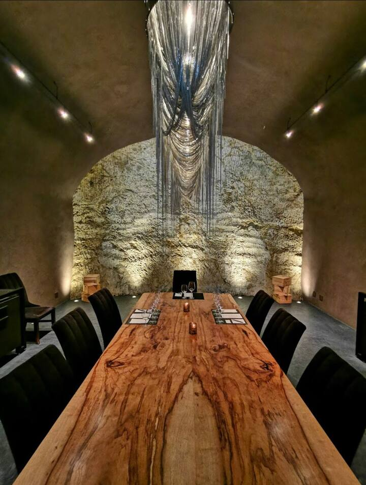 Taste delicious wines in a wine cave