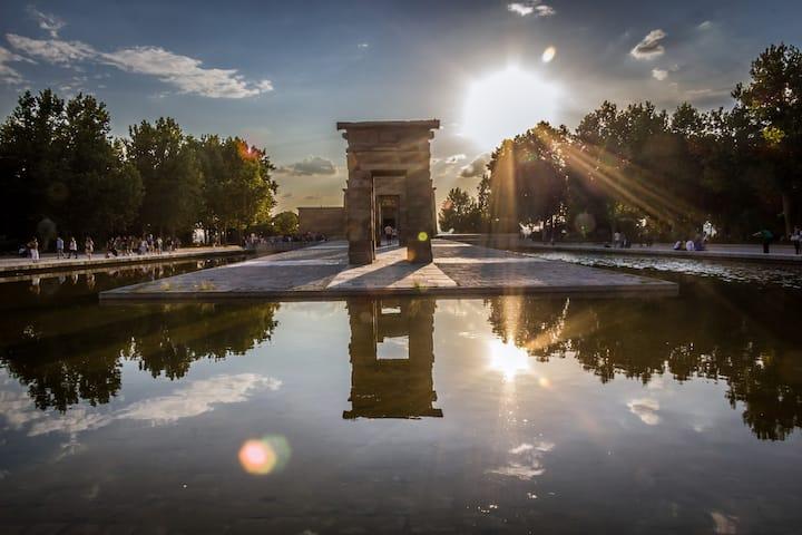 Sunset in Debodh temple