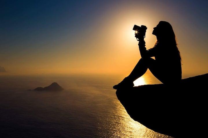Foto nascer do sol da pedra do telégrafo