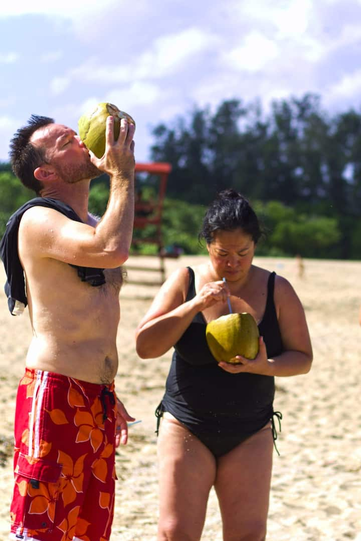 Fresh coconut water!
